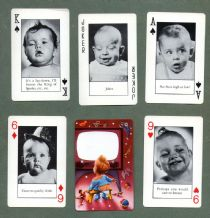Collectible Playing cards Bannister's Babies photographs of babies
